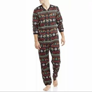 Budweiser Black Beer Christmas One Piece Pajamas